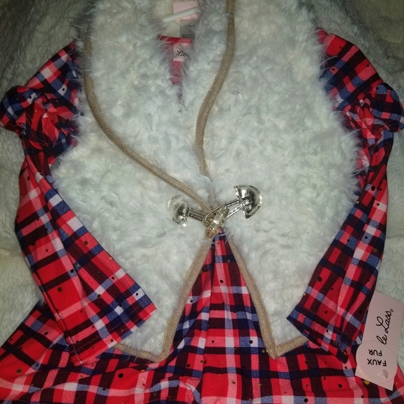 SALE** Girls faux vest set